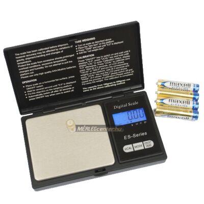 ES-100A (100g/0,01g) digitális precíziós zsebmérleg, gramm mérleg, ékszermérleg