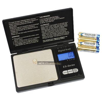 ES-1000B (1000g/0,1g) digitális precíziós zsebmérleg, gramm mérleg, ékszermérleg