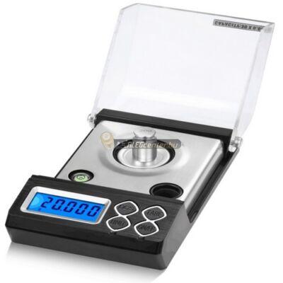 HA-30 (30g/0,001g) digitális darabszámlálós ékszer-, ezredgrammos mérleg, fém mérőedénnyel