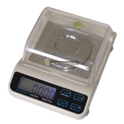 HA-60 (60g/0,001) digitális asztali precíziós ékszermérleg, ezredgrammos osztású mérleg