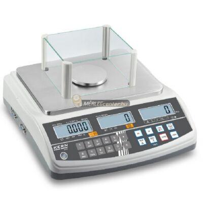 KERN CFS 300-3 (300g/0,001g) darabszámláló memóriás (100 cikknek) digitális asztali mérleg 3évG