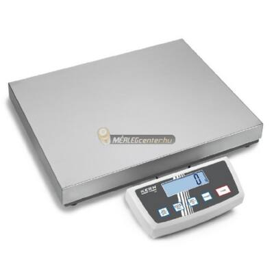 KERN DE 60K10DL (60kg/10g) IP65 522x403mm platform- csomagmérleg kisállatmérő, darabszámláló, százaléksz. 2évG