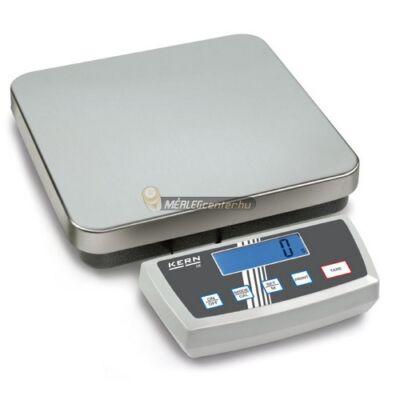 KERN DE 15K0.2D (15kg/0,2g) IP65 platform- csomagmérleg kisállatmérő, darabszámláló, százalékszámító funkcióval 2évG
