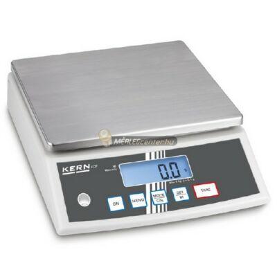 KERN FCF 30K3 (30000g/1g) darab- és százalékszámító, kisállat számláló digitális asztali mérleg 3évG