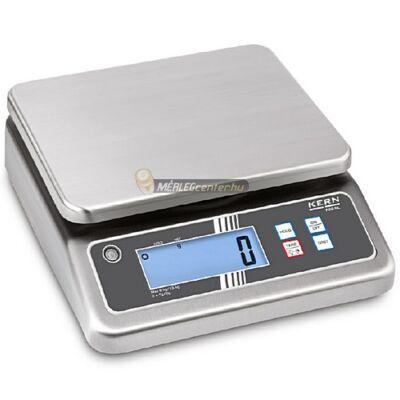 KERN FOB-N 30K-3NL (30kg/5g) rozsdamentes, IP67 digitális asztali mérleg - 3 év garancia