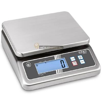 KERN FOB-N 7K-4NL (7500g/0,5g) rozsdamentes, IP67 digitális asztali mérleg - 3 év garancia