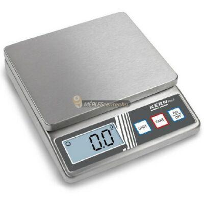KERN FOB-S 5K1S (5kg/1g) rozsdamentes, IP65 digitális asztali mérleg - 3 év garancia