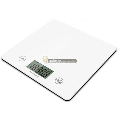 MC-455 (10000g/1g) szuperlapos fehér digitális konyhai mérleg
