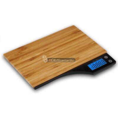 MC-350 bambusz felületű 5kg/1g digitális konyhai mérleg