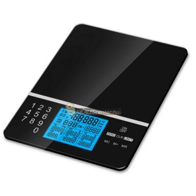 MC-695 digitális konyhai kalória, diabétesz, tápérték kalkulátor és táplálkozástudományos mérleg
