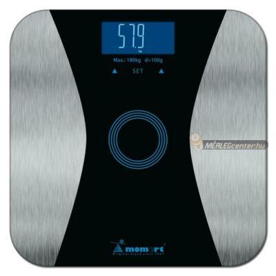 Momert 5876 digitális személymérleg, testzsír/testvíz méréssel