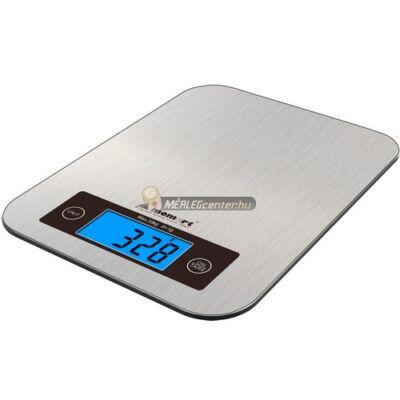 MOMERT-6858 (10000g/1g) 210x160mm rozsdamentes acél felületű digitális konyhai mérleg