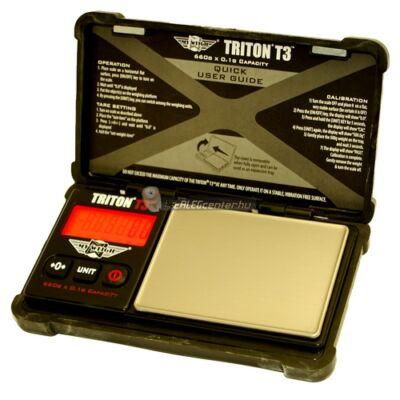 TRITON T3 660g/0,1g digitális precíziós zsebmérleg, gramm mérleg, ékszermérleg - 2 év garancia