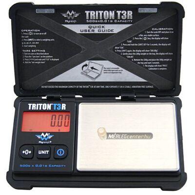TRITON T3R 500g/0,01g akkumulátoros digitális precíziós zsebmérleg, gramm mérleg, ékszermérleg - 2 év garancia